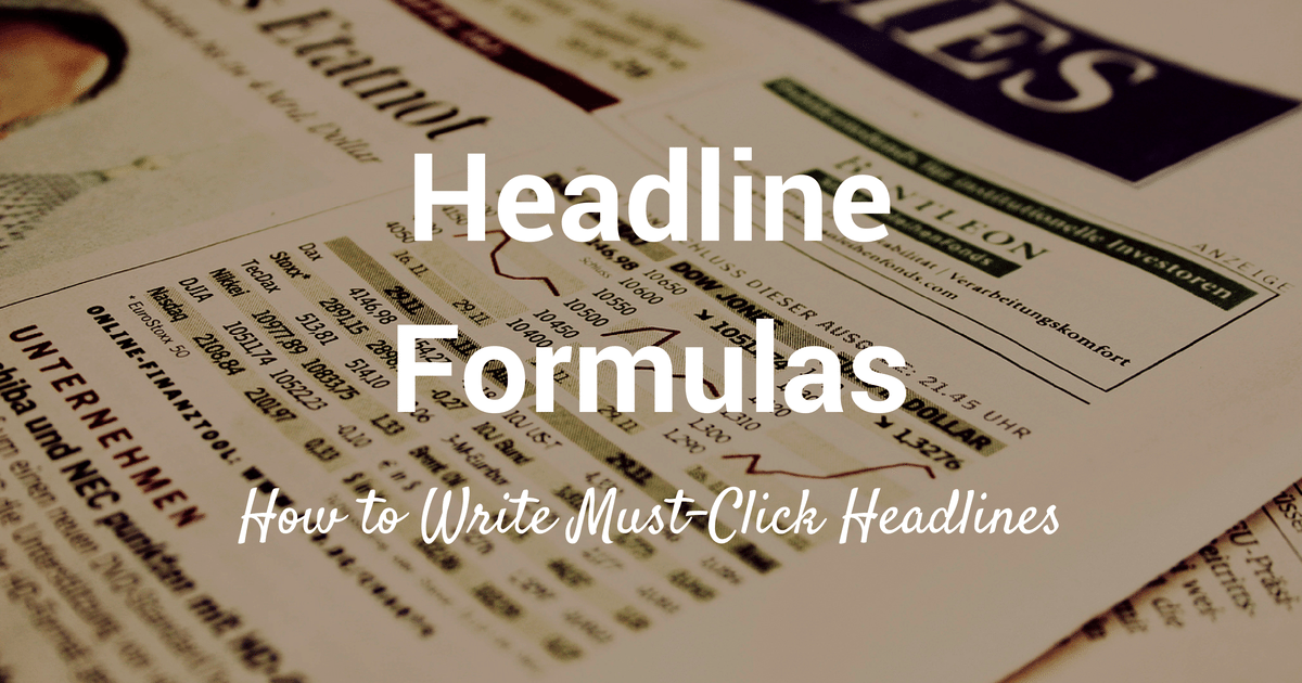 Catchy Headlines or One-liners