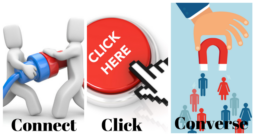 Connect, click, and Converse