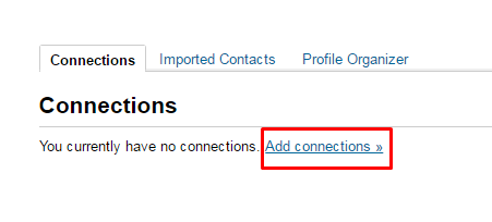 Click on add connections