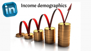 LinkedIn Income demographics
